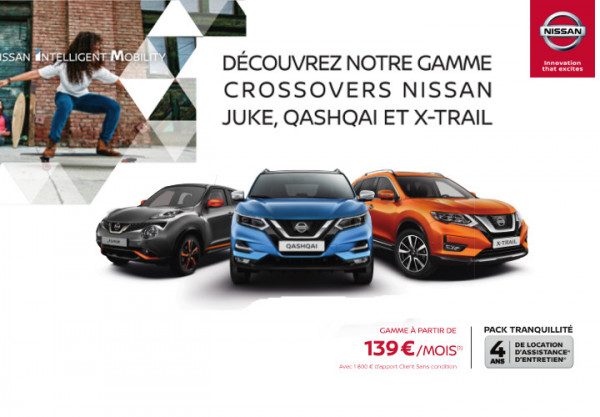 Les Crossovers NISSAN - Concession NISSAN Cahors